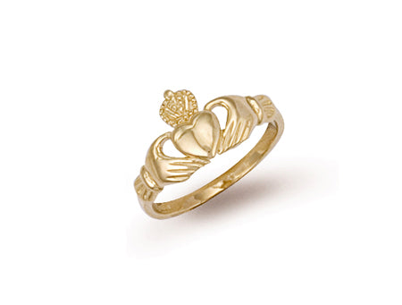 Yellow Gold Baby Claddagh Ring TGC-R0089