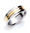 7mm Two Colour (Yellow & White Gold) Wedding Band TGC-WR0032