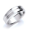 7mm Flat Court Bevelled Edge Matt Wedding Band TGC-WR0036
