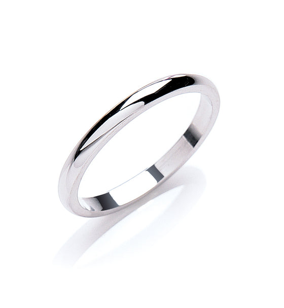 2.5mm D-Shape Wedding band  TGC-WR0067