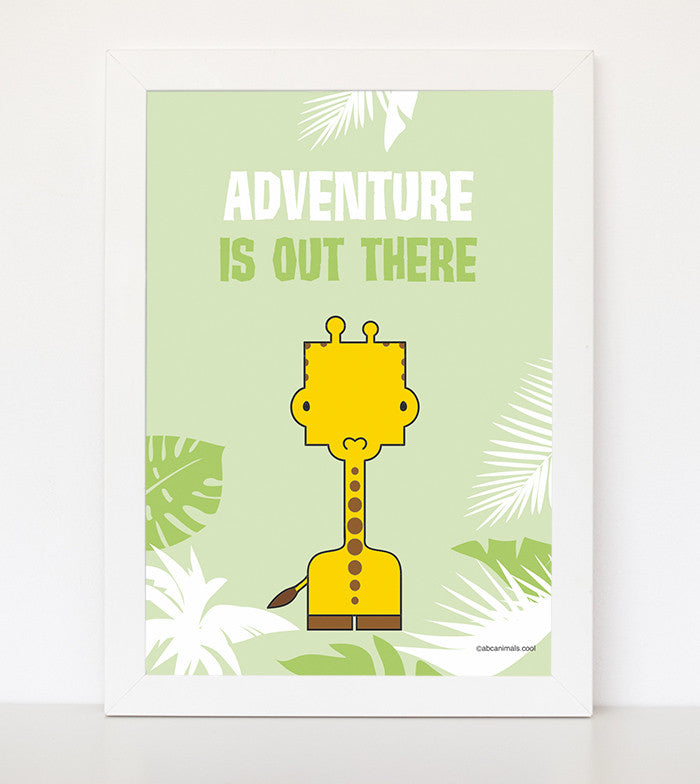 adventure abc animal print