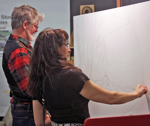 Meet Kevin and Wendy! 2018 Final Fridays Studio Art Crawl at Artisan Forge! Live painting demo!