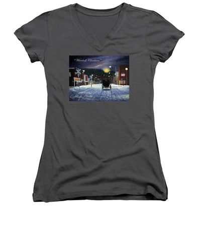 Whitehall Christmas - Women's V-Neck (Athletic Fit)