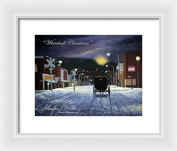 Whitehall Christmas - Framed Print
