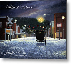 Whitehall Christmas - Metal Print
