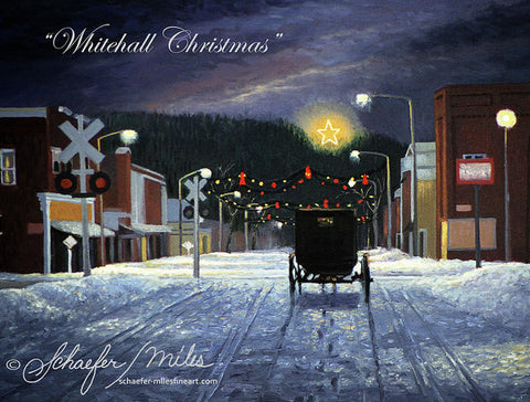 Whitehall Christmas - Art Print