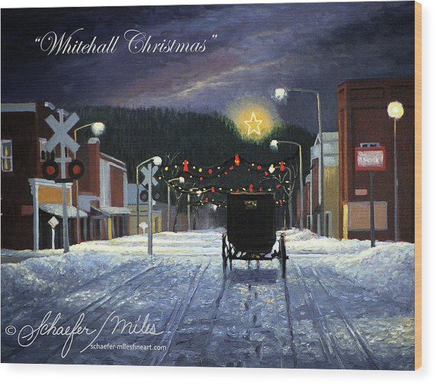 Whitehall Christmas - Wood Print
