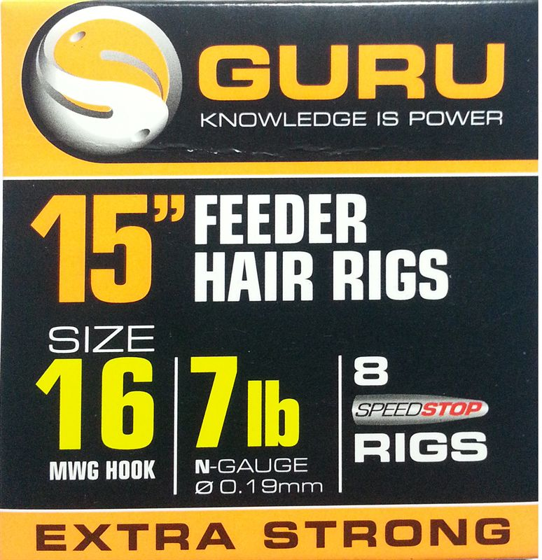 Guru Feeder Hair Rigs STANDARD 15inch - JL Fishing Tackle