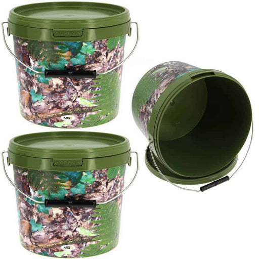 5L Camo Bait Bucket - JL Fishing Tackle