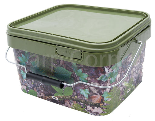 10L Camo Square Bucket - JL Fishing Tackle