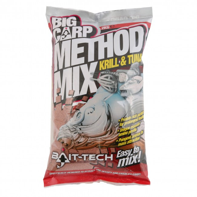 Bait Tech Big Carp Method Mix Krill & Tuna - JL Fishing Tackle