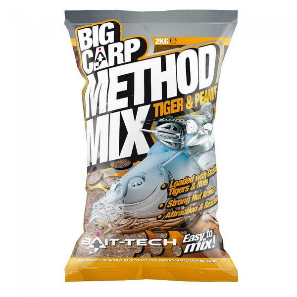 Bait Tech Big Carp Method Mix Tiger & Peanut - JL Fishing Tackle