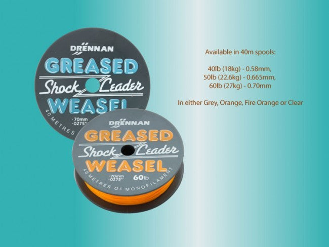 Drennan Greased Shock Leader Weasel - JL Fishing Tackle