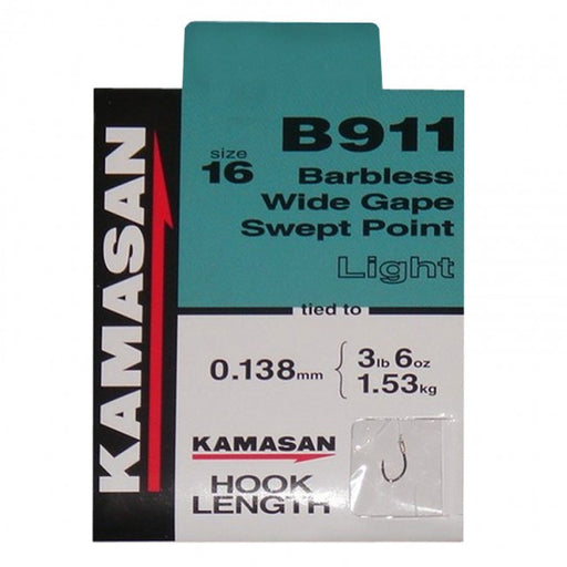 Kamasan B911 Light Hooks to Nylon - JL Fishing Tackle
