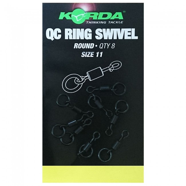 Korda Quick Change Ring Swivel Round - JL Fishing Tackle