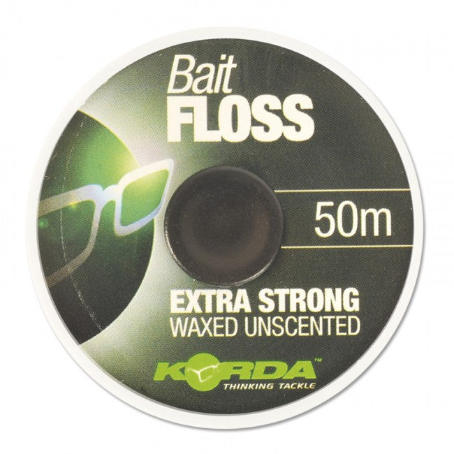 "Korda Bait Floss ""WAXED UNSCENTED"" 50m - JL Fishing Tackle"