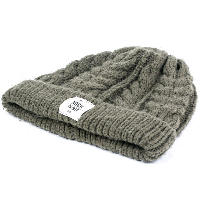 Nash Tackle Chunky Knit Beanie - JL Fishing Tackle