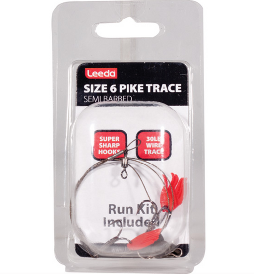 Leeda Pike Trace Size 6 Semi-Barbed 5pk