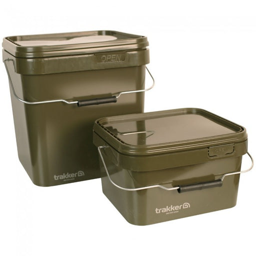 Trakker Olive Square Container 5ltr and 17ltr - JL Fishing Tackle