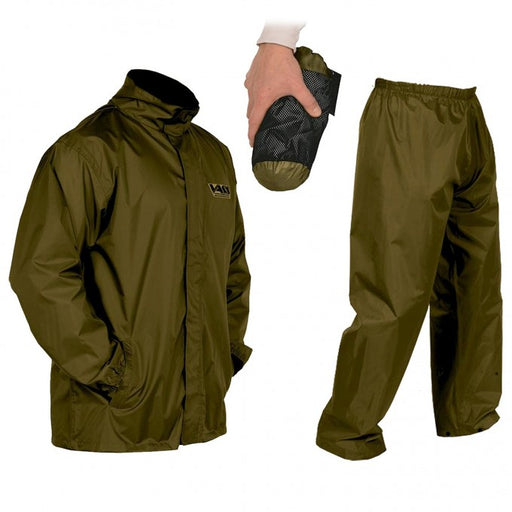 Vass-Tex Lightweight Khaki Packaway Jacket and Trouser Set - JL Fishing Tackle