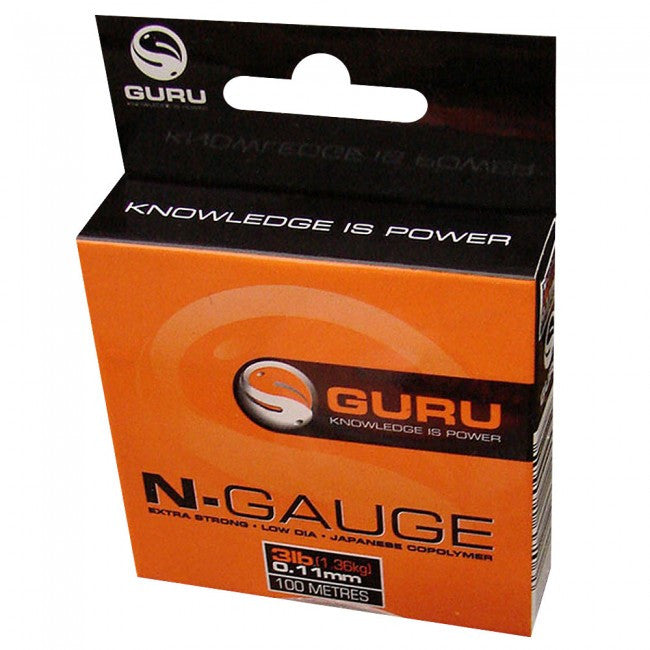 Guru N-GAUGE 100m Extra Strong Line - JL Fishing Tackle