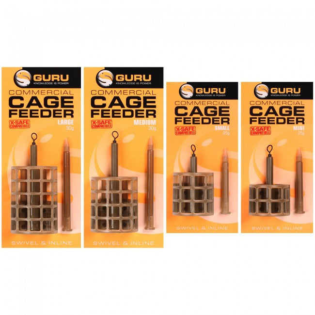 Guru COMMERCIAL CAGE FEEDER X-SAFE COMPATIBLE - JL Fishing Tackle