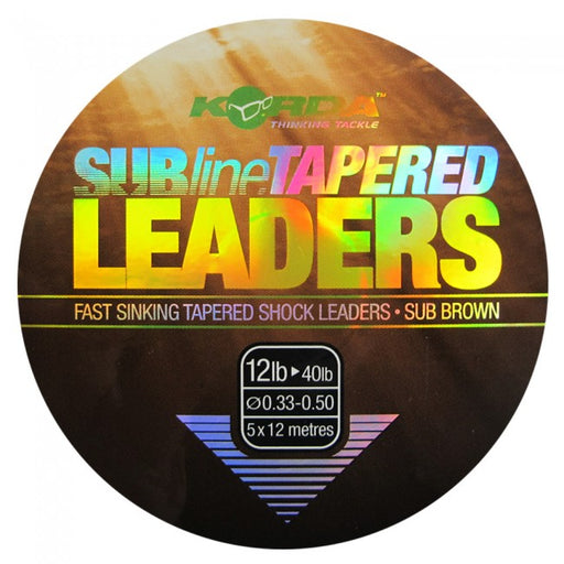 Korda Tapered Leader 10 > 40lb - JL Fishing Tackle