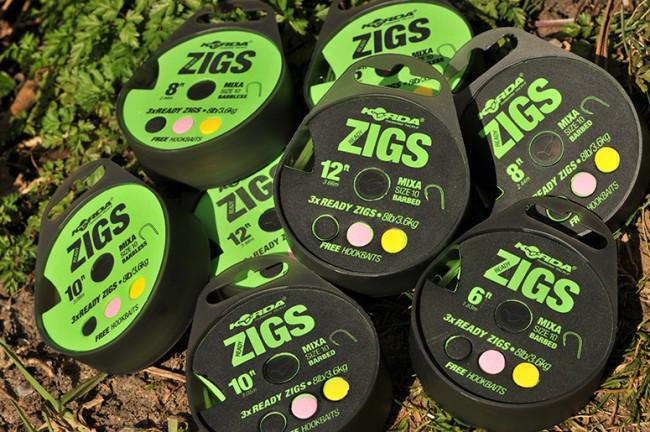 Korda Zigs MIX A 3 x Ready Zigs - JL Fishing Tackle
