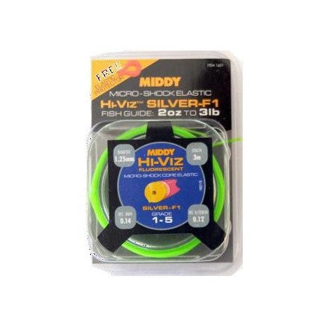 Middy Hi Viz Micro Shock Elastic - JL Fishing Tackle