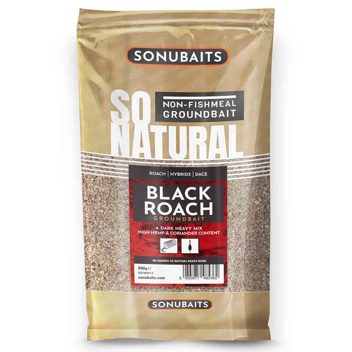 Sonubaits So Natural Black Roach Groundbait - JL Fishing Tackle