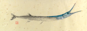 Long Tom Print by Salty Bones, fisherman gift, fish art, gift for Dad, fish lovers, coastal style, fish painting