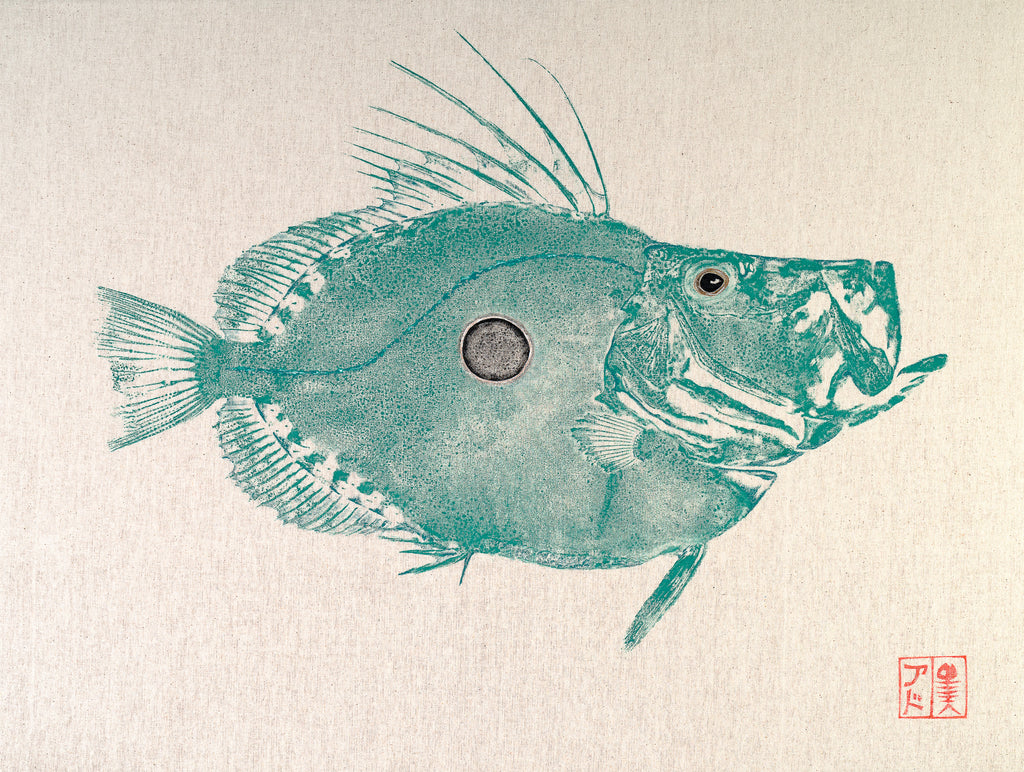 John Dory Reproduction of original Gyotaku by Salty Bones, fisherman gift, fish art, gift for Dad, fish lovers, coastal style, fish painting