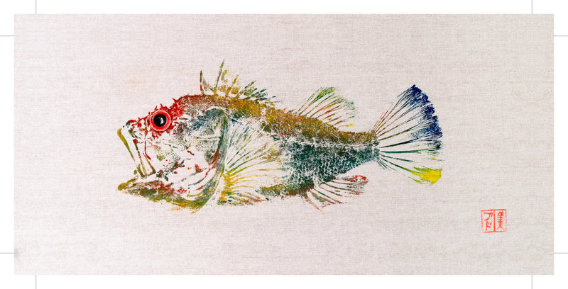 Gurnard colour reproduction by Salty Bones, fisherman gift, fish art, gift for Dad, fish lovers, coastal style, fish painting