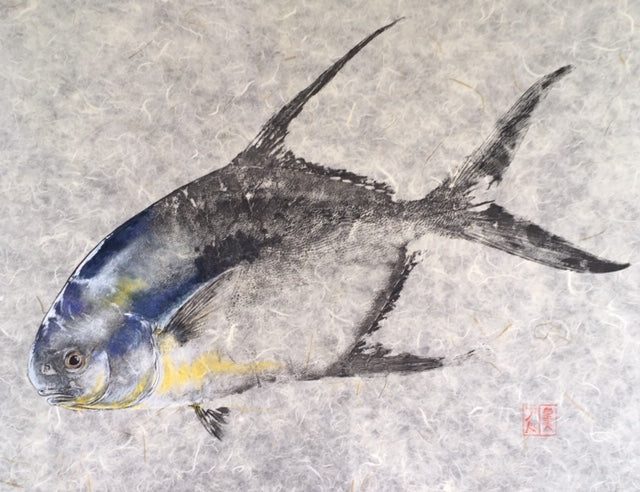 fisherman gift, fish art, gift for Dad, fish lovers, coastal style, fish painting