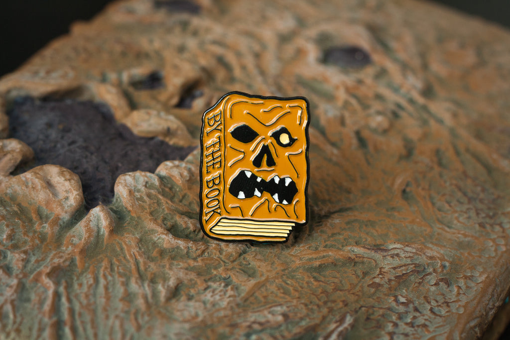 Lift Me Up Apparel   By The Book Enamel Pin   Necronomicon Pin   Evil Dead