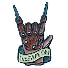 """Dream On"" Enamel Pin - Lift Me Up - Hand Drawn Patches Pins and Apparel"