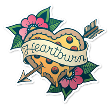 """Heartburn"" Vinyl Sticker - Lift Me Up - Hand Drawn Patches Pins and Apparel"