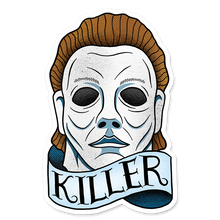 """Killer"" Vinyl Sticker - Lift Me Up - Hand Drawn Patches Pins and Apparel"