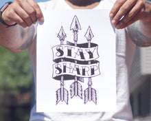 """Stay Sharp"" Giclee Print - Lift Me Up - Hand Drawn Patches Pins and Apparel"