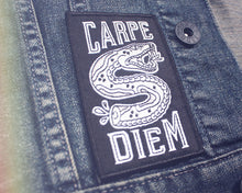 """Carpe Diem"" Patch - Lift Me Up - Hand Drawn Patches Pins and Apparel"