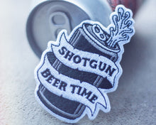 """Shotgun Beer Time"" Patch - Lift Me Up - Hand Drawn Patches Pins and Apparel"