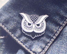"""Owl"" Enamel Pin - Lift Me Up - Hand Drawn Patches Pins and Apparel"