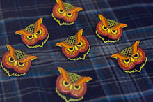 """Owl"" Enamel Pin (Fire Variant) - Lift Me Up - Hand Drawn Patches Pins and Apparel"