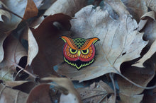 """Owl"" Enamel Pin (Fire Variant) - Lift Me Up Apparel"