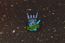 """Dream On"" Enamel Pin (Retro Glow Varient) - Lift Me Up - Hand Drawn Patches Pins and Apparel"