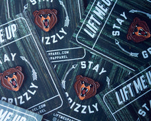 """Stay Grizzly"" Enamel Pin - Lift Me Up Apparel"
