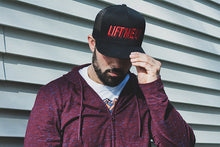 """Lift Me Up"" Logo Trucker Cap - Lift Me Up - Hand Drawn Patches Pins and Apparel"
