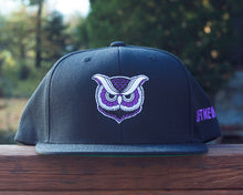 """Owl"" Wool Snapback Hat (Purple Variant) - Lift Me Up - Hand Drawn Patches Pins and Apparel"