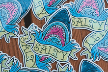 """Salty"" Vinyl Sticker - Lift Me Up - Hand Drawn Patches Pins and Apparel"