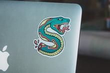 """Snake Bite"" Vinyl Sticker - Lift Me Up - Hand Drawn Patches Pins and Apparel"